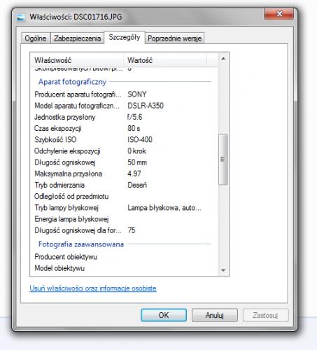 Usuwanie prywatnych danych EXIF ze zdjęć