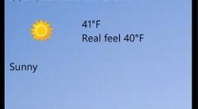 Szczegółowe sprawdzanie pogody na Windows Phone 7
