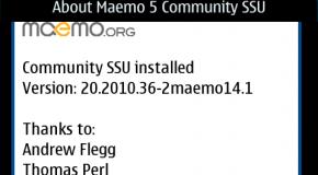 Update CSSU dla Maemo – Nokia N900