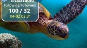 Twitterowy widżet dla Androida z ilością śledzących użytkowników