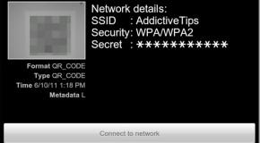 Łączenie się z sieciami WiFi za pomocą kodów 2D