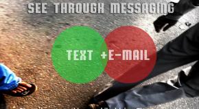 Bezpieczne pisanie wiadomości podczas chodzenia
