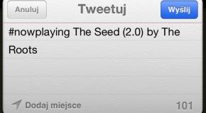 Przesyłanie informacji na Twittera o aktualnie odtwarzanym utworze z iOS 5