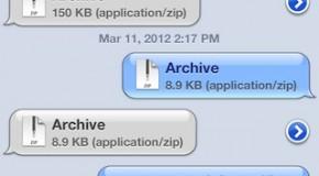 Wysyłanie dowolnych plików przez iMessage