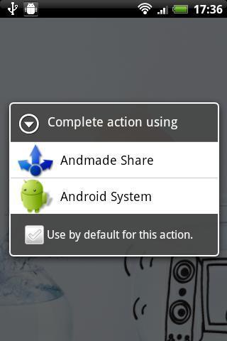 Bardzo rozbudowane dzielenie się treściami na Androidzie