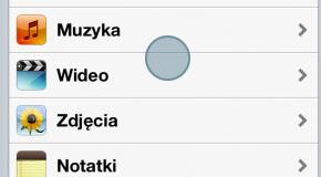 Cień śledzący każdy dotyk na ekranie iPhone'a