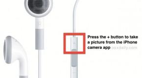 Robienie zdjęć w iPhonie przy pomocy zestawu słuchawkowego