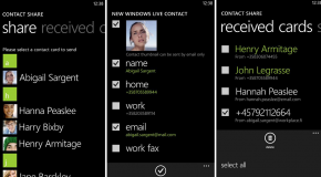 Contacts Share – zarządzanie wizytówkami vCard w telefonach Nokia Lumia