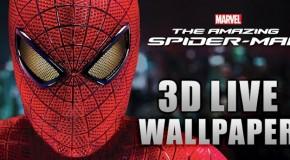 Spiderman jako żywa tapeta Androida w 3D