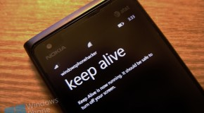Keep Alive dla Windows Phone'a w Marketplace