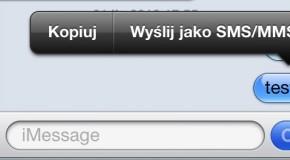 Jak zamienić wiadomość iMessage w SMS-a?