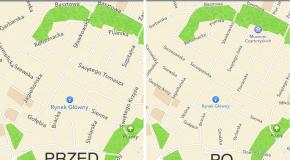 Zwiększanie czytelności map na iOS 6